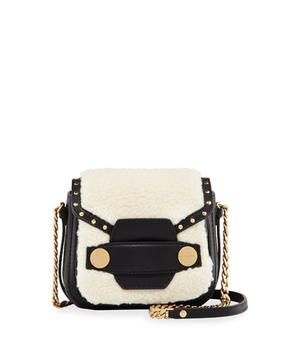 Alter Shearling Fur Free Fur Shoulder Bag, Off White