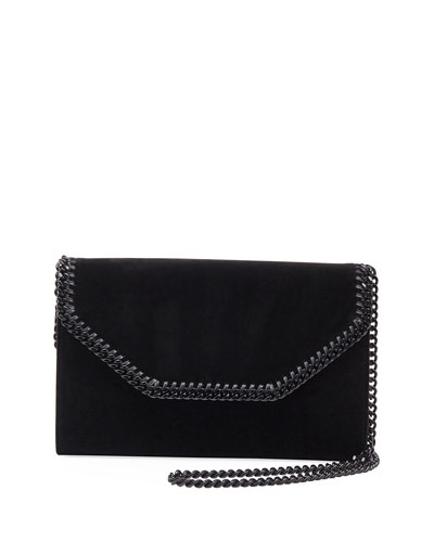 Falabella Eco Alter Velvet Box Clutch Bag