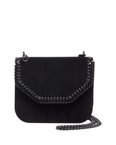 Falabella Velvet Box Crossbody Bag, Black