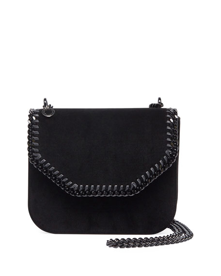 Falabella Velvet Box Crossbody Bag, Black