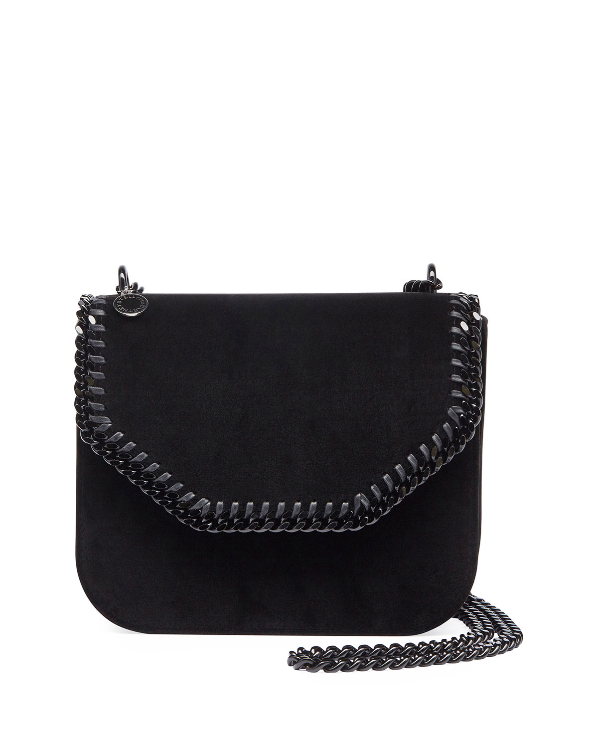 Stella McCartney Falabella Velvet Box Crossbody Bag, Black   Neiman ... f5a5ad3b32