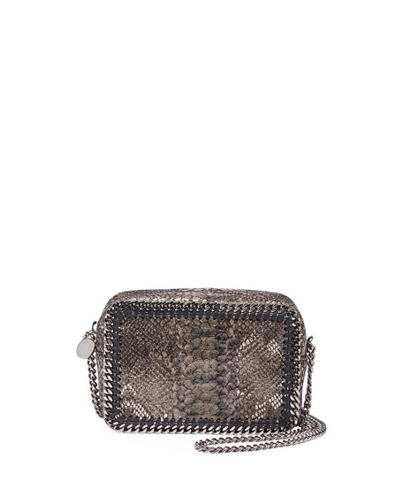 Stella McCartney Falabella Whipstitch Crossbody Bag, Python-Print