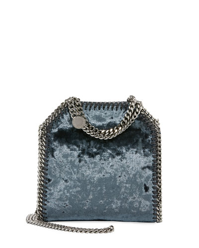 Falabella Tiny Crushed Velvet Shoulder Bag