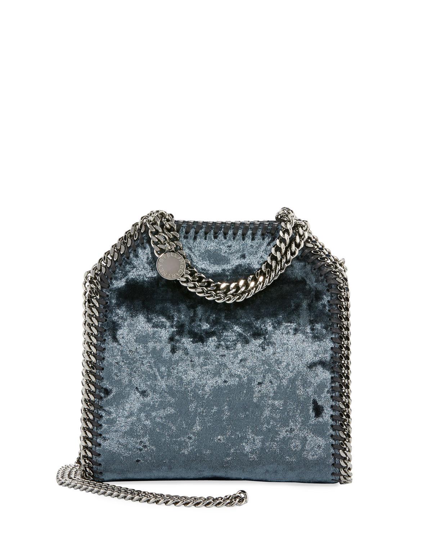 c6023dce355f Stella McCartneyFalabella Tiny Crushed Velvet Shoulder Bag