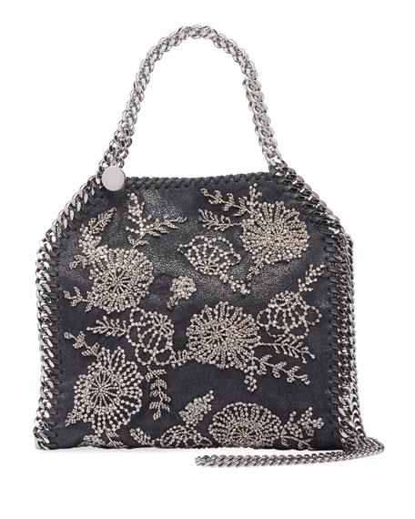 Stella McCartney Falabella Mini Beaded Flower Tote Bag