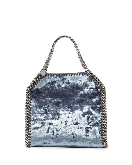 Stella McCartney Falabella 3-Chain Fold-Over Velvet Tote Bag