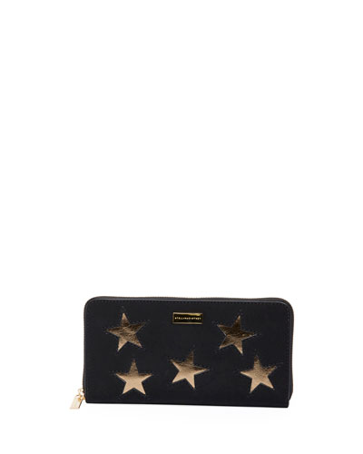 Gold Star Zip-Around Wallet