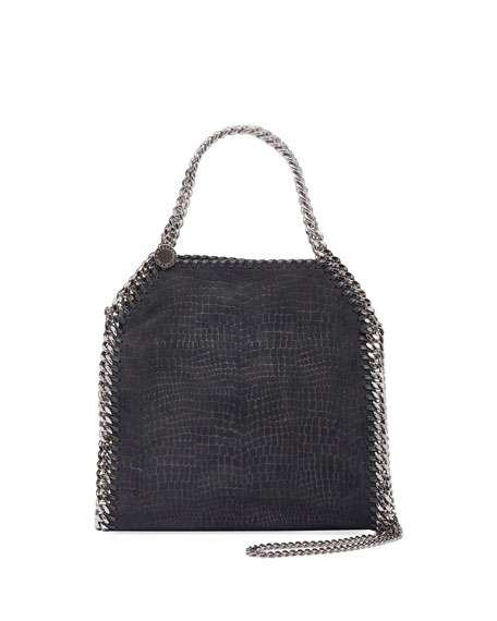 Falabella Small Embossed Velvet Three-Chain Tote Bag