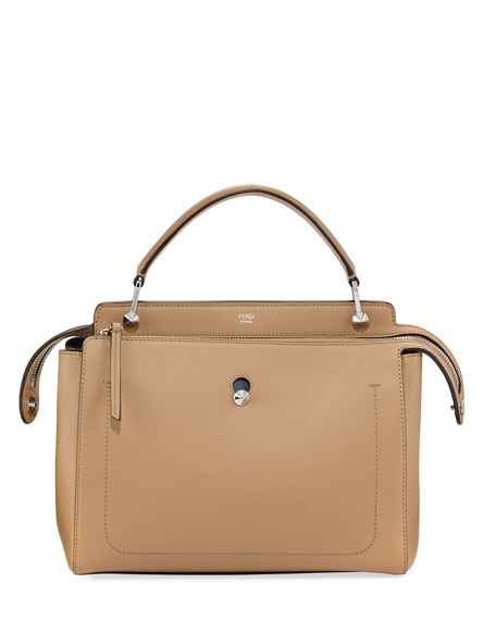 Fendi Dotcom Chain Dual-Zip Satchel Bag