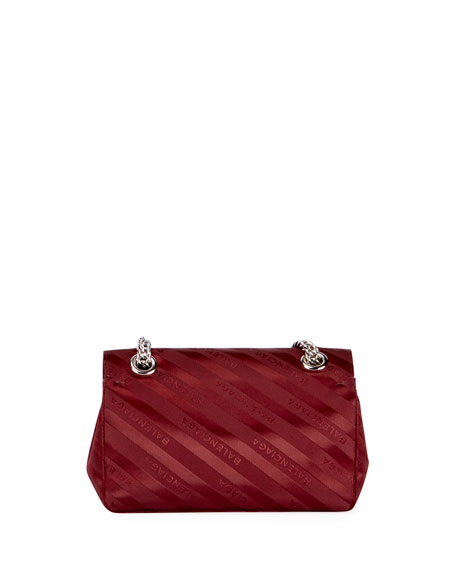 Lock Round Small Scarf Satin Shoulder Bag