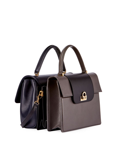 AJ Coll Triple Two-Tone Tote Bag