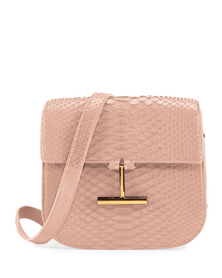 Tara Small T Clasp Python Shoulder Bag