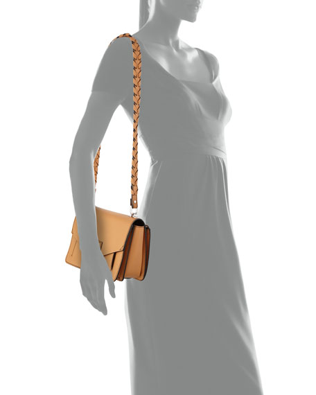 Hava Leather Whipstitch Crossbody Bag, Sand