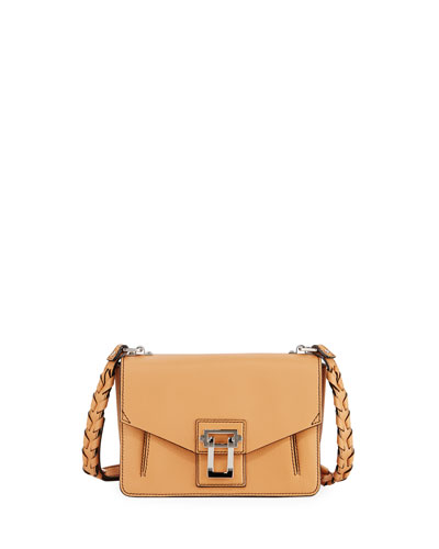 Hava Leather Whipstitch Crossbody Bag, Sand