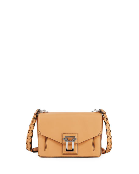 Proenza Schouler Hava Leather Whipstitch Crossbody Bag, Sand