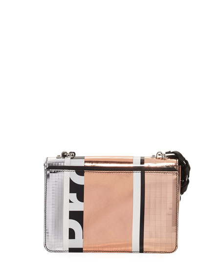 Hava Patchwork Metallic Chain Shoulder Bag