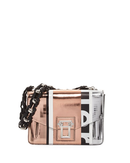 Proenza Schouler Hava Patchwork Metallic Chain Shoulder Bag
