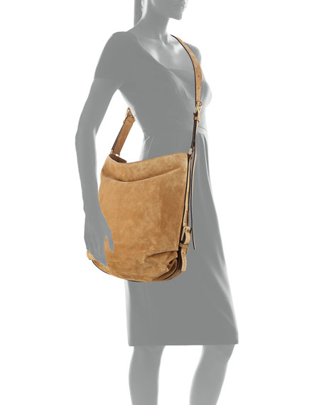Naomi Large Suede Shoulder Bag