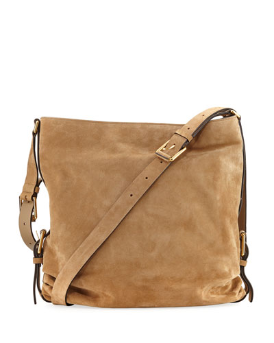 Naomi Large Suede Shoulder Bag