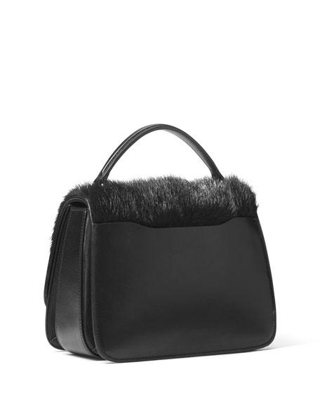 Mia Fur Shoulder Satchel Bag