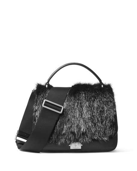 Michael Kors Mia Fur Shoulder Satchel Bag