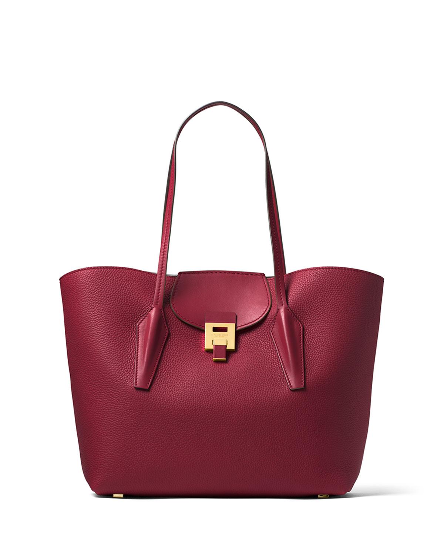 c08f79f82004 Michael Kors Bancroft Large Pebbled Leather Tote Bag