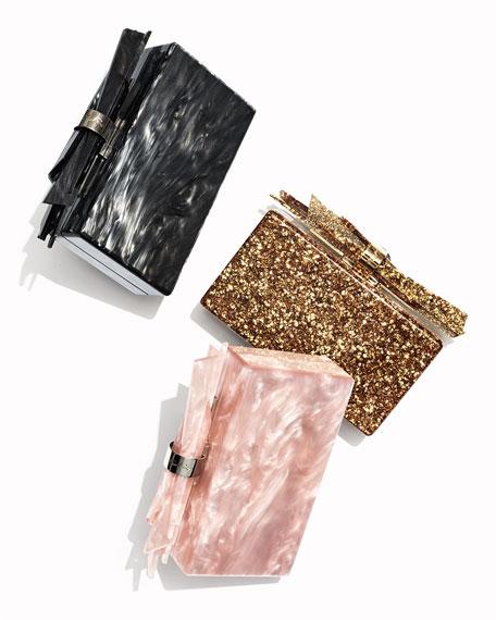 Wolf Glittered Acrylic Clutch Bag