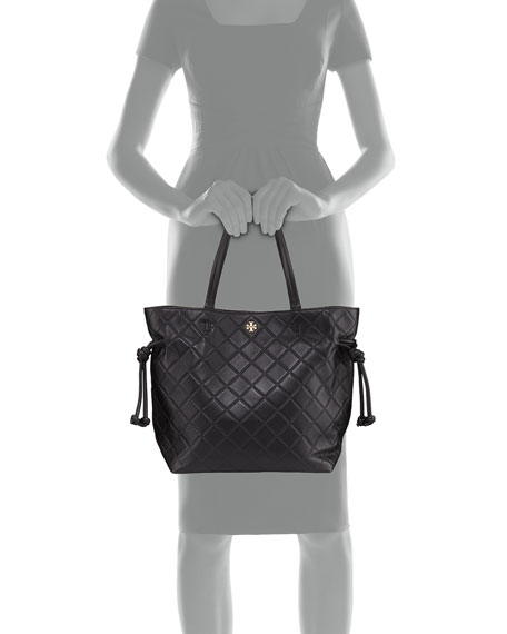 Georgia Slouchy Quilted Leather Tote Bag