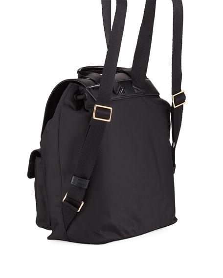 Quinn Nylon Flap Backpack