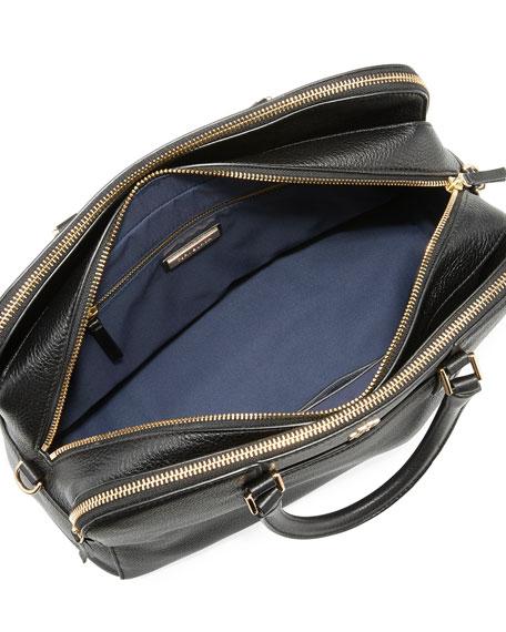 Georgia Pebbled Leather Satchel Bag