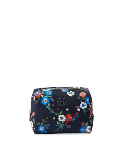 Brigitte Floral-Print Cosmetics Case