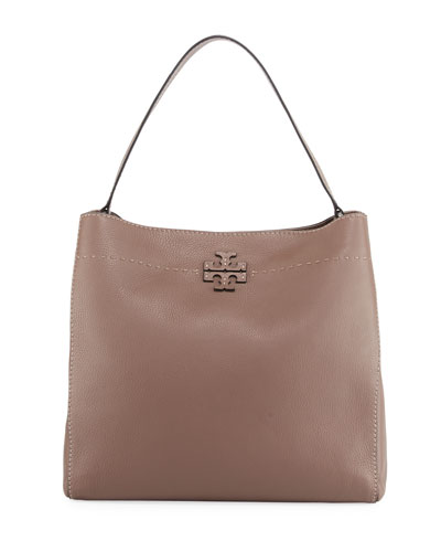 McGraw Pebbled Leather Hobo Bag