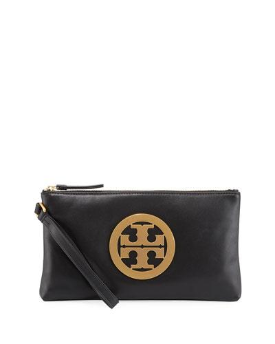 Charlie Logo Wristlet Clutch Bag