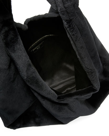 Bindle Mink Fur Hobo Bag