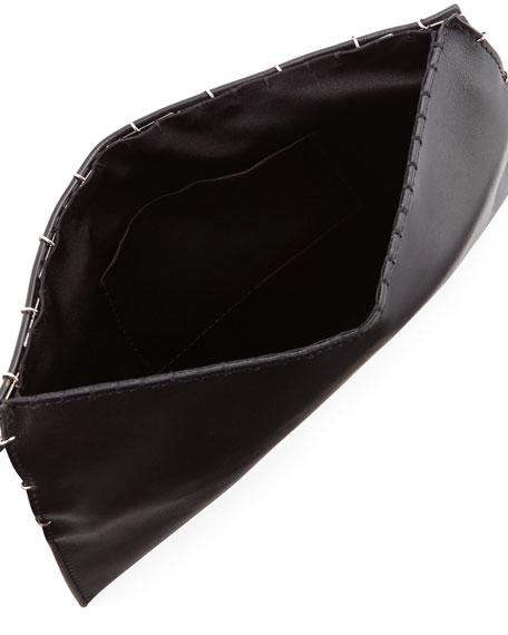 Metal Square Clutch Bag, Black