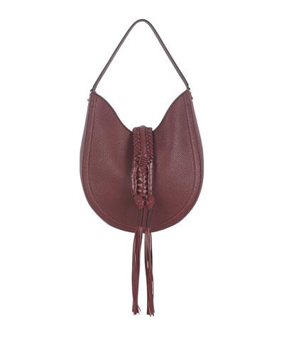 Ghianda Small Leather Hobo Bag