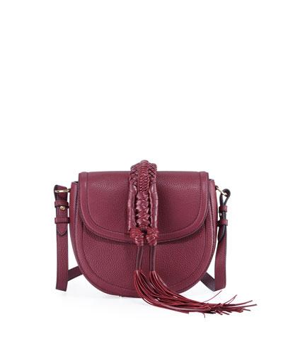 Ghianda Small Leather Saddle Knot Bag