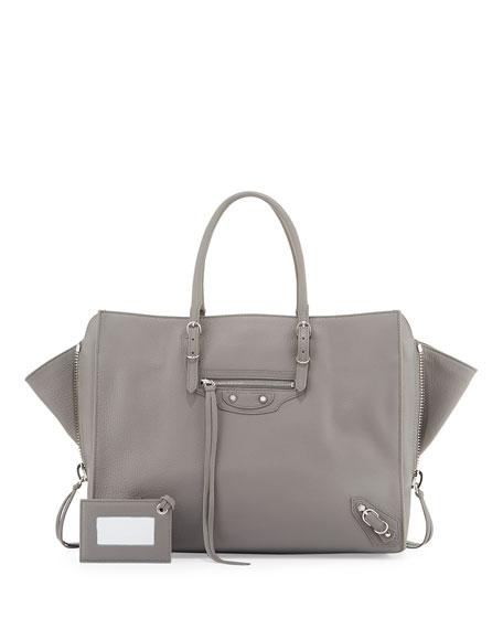 Balenciaga Papier B4 AJ Zip-Around Tote Bag, Gray
