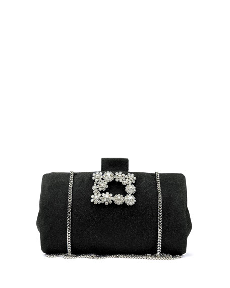 Roger Vivier Soft Embellished Flowers Clutch Bag