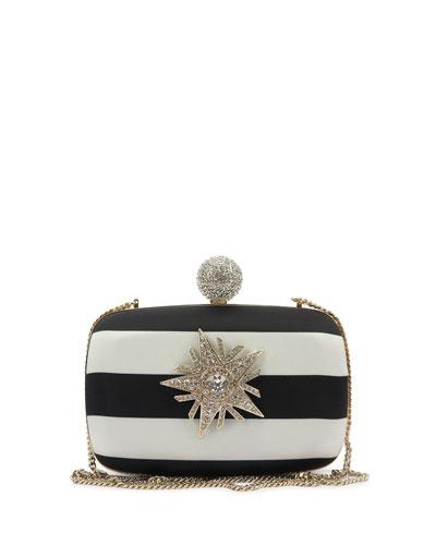 Boite De Nuit Star Striped Clutch Bag