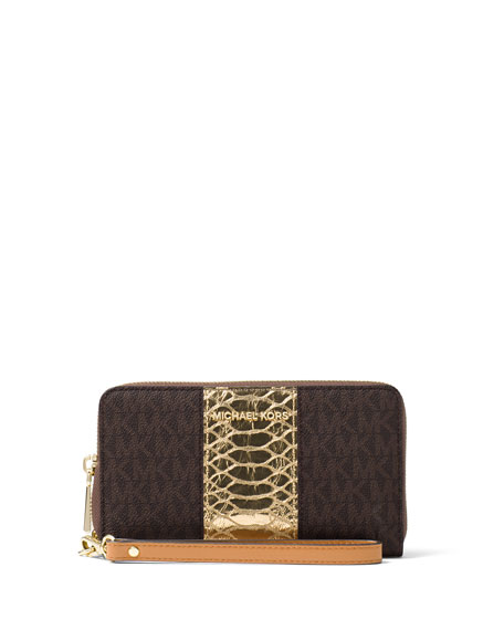 MICHAEL Michael Kors Large Flat Multifunction Wristlet Phone