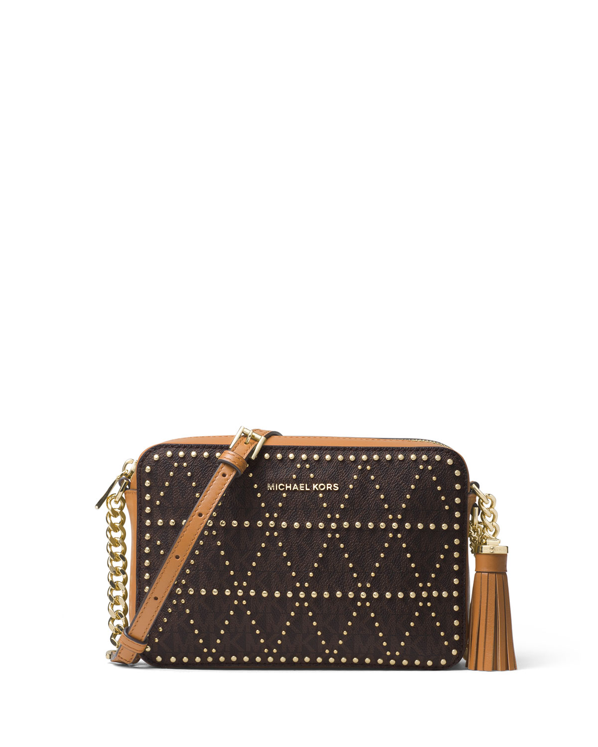 a75e0de31 MICHAEL Michael Kors Ginny Medium Studded Camera Bag | Neiman Marcus