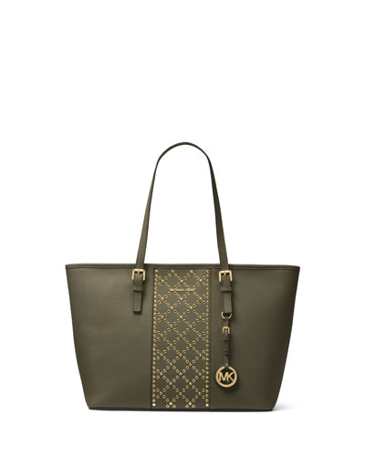 Jet Set Travel Studded Tote Bag