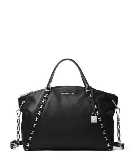 MICHAEL Michael Kors Sadie Large Chain Satchel Bag