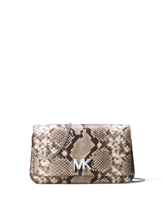 c30af4cf4488 MICHAEL Michael Kors Mott Python-Embossed Clutch Bag