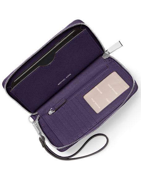 Large Saffiano Grommet Wristlet Wallet/Phone Case