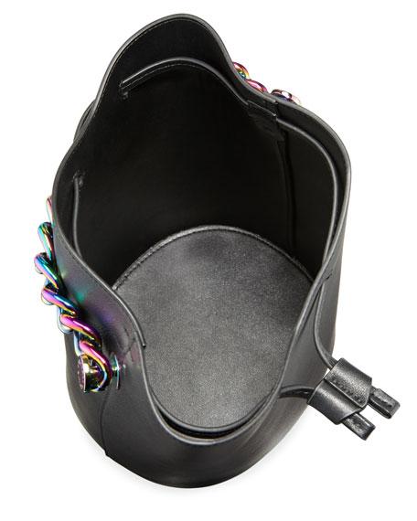 Ladie Mini Leather Bucket Bag