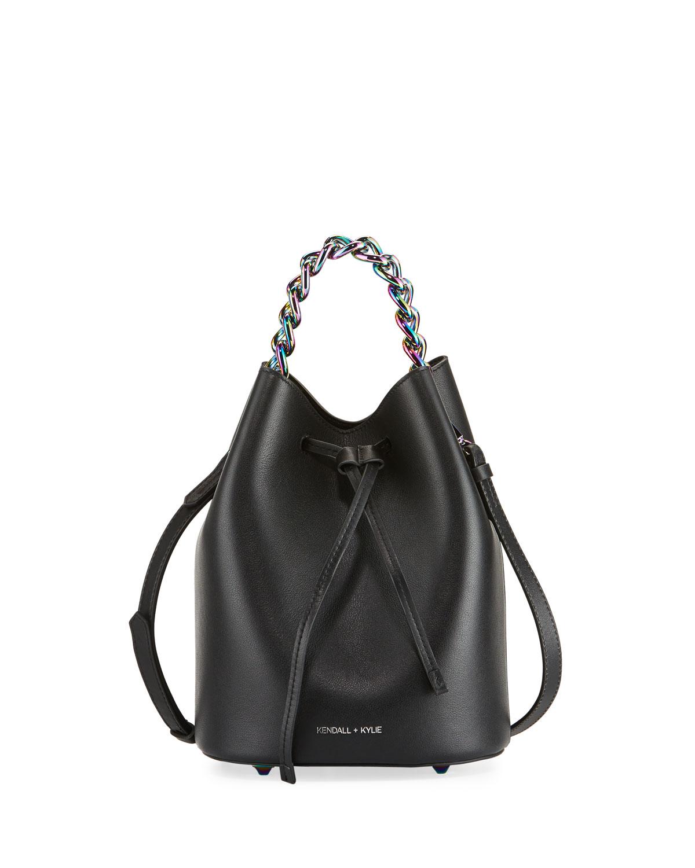 La Mini Leather Bucket Bag