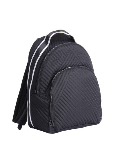 Jo Quilted Stripe Backpack