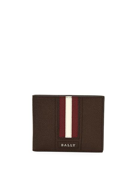 Bally Tevye Striped Leather Bi-Fold Wallet